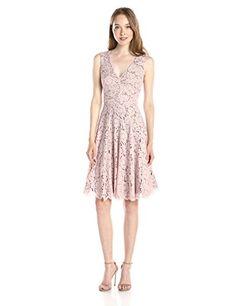 Vera Wang Women's Double Scallop Lace Fit-and-Flare Dress - http://www.darrenblogs.com/2016/08/vera-wang-womens-double-scallop-lace-fit-and-flare-dress/