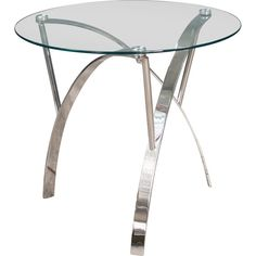 Add A Contemporary Touch To Any Room In Your Home With The Quandro Round Glass End Tables. These Table Are Made With Tempered Glass Tops And Chromed Frames. The Clean Lines And Curved Legs Give Each Table A Sculptural Feel That Will Modernize Any Area It They Are Placed In. The Quandro Glass End Tables Offer The Perfect Touch Of Contemporary Elegance To Your Home.