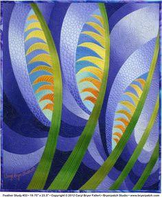 Feather study, quilt - Caryl Bryer Fallert