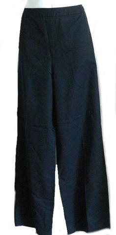Ann Taylor Side Zipper Closure Pants Navy Blue Cotton Rayon Blend Slacks Size 8 #AnnTaylor #CasualPants