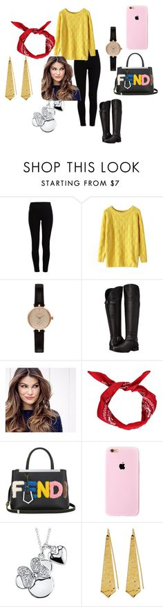 """""""working in the chicken coop"""" by sara-fumanti ❤ liked on Polyvore featuring Pieces, Chicnova Fashion, Barbour, Naturalizer, ULTA, Boohoo, Fendi, Disney, Panacea and women's clothing"""