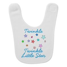 Colorful Stars Baby Bib - Twinkle Twinkle