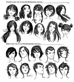 hair reference ✤ || CHARACTER DESIGN REFERENCES | キャラクターデザイン | çizgi film || ✤