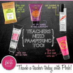 Thank a teacher today with Perfectly Posh. Teachers need pampering too! Tap the image to shop.