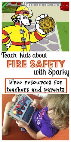 Kids Safety Teach kids about fire safety with Sparky - Get all the free resources you need to teach kids about fire safety. Sparky helps parents and teachers teach age appropriate fire prevention information. Fire Safety For Kids, Child Safety, Family Safety, Learning Activities, Activities For Kids, Learning Skills, Spring Activities, Parent Resources, Homeschooling Resources