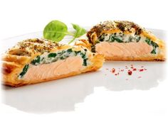 Salmon, Creme Cheese& Spinach in Crispy Filo Pastry