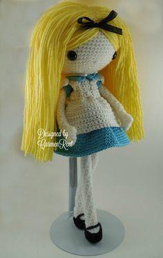 Alice Amigurumi Doll Crochet Pattern PDF