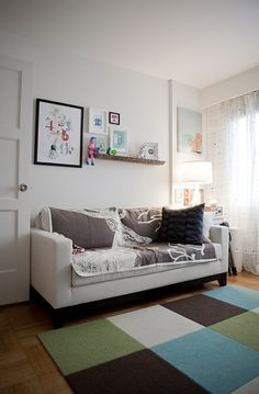 Comfy couch in nursery