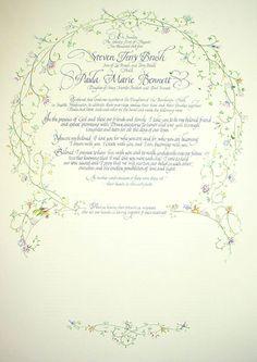 Quaker Wedding Certificates