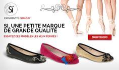 Ballerines mode et originales. Ballerines avec clous, dentelles et fleurs. Exclusivement sur la boutique en ligne Chausty.