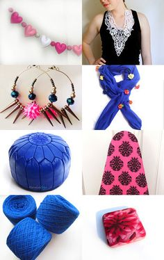 Neon Pink and Electric Blue by CartoCreative on Etsy--Pinned with TreasuryPin.com
