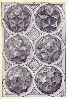 Coelum (a) - Perspectiva Corporum Regularium -  Wenzel Jamnitzer 1568 by peacay, via Flickr