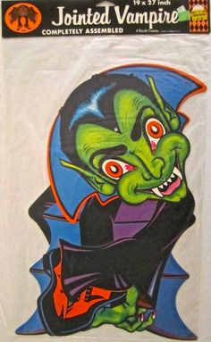 """My vintage  Halloween """"Jointed Vampire"""" by Beistle. He is from the 1970's"""