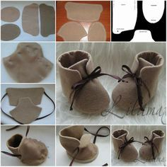 How To stitch Fashion Baby Shoes step by step DIY tutorial instructions Cute DIY Baby Shoes Ideas +Tutorial - All For Fashions - fashion, beauty, diy, crafts, alternative health Welcome to SaiFou – Inspiring images Doll Shoe Patterns, Baby Patterns, Felt Patterns, Baby Moccasin Pattern, Felt Baby Shoes, Sewing Dolls, Doll Shoes, Diy Baby, Baby Sewing