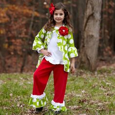 Girls Lime Dot Jacket – Lolly Wolly Doodle