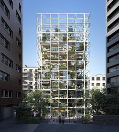 Modularity Building by Module Architecture, Studios Architecture, Residential Architecture, Architecture Design, U Bahn, High Rise Building, Facade Design, Urban Farming, Green Building