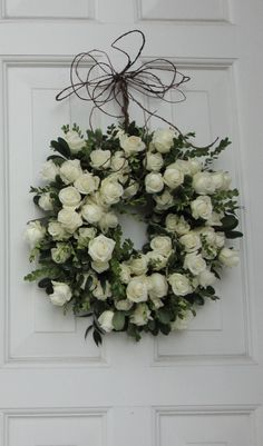 Like how they used grapevine (?) to hang wreath