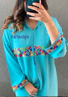 Mode Abaya, Mode Hijab, Style Marocain, Embroidery On Kurtis, Designer Party Wear Dresses, Embroidery Suits Design, Kurta Designs Women, Couture, Baby Dress