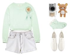 """""""You're my sweet angel boy"""" by d-o-ll-y-h-a-z-e ❤ liked on Polyvore featuring Forever 21, MTWTFSS Weekday, H&M, cute, pastel, child and nymphet"""