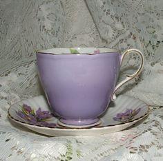 Vintage Paragon Cup In Lavender matched with Royal Windsor Saucer