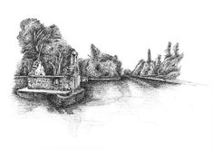 Monk's Fishing House, Cong, Co. Mayo The Monks, Ink Drawings, Limited Edition Prints, Fine Art Prints, Fishing, Antiques, Artist, House, Antiquities
