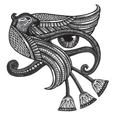 Awesome tattoo design of the Eye of Horus in Egyptian style. Color: Black. Tags: Awesome, Meaningful