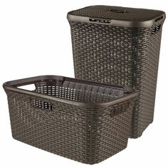 Curver Hamper and Laundry Basket Symple Stuff Woven Laundry Basket, Laundry Box, Laundry Sorter, Laundry Hamper, Plastic Laundry Basket, Plastic Baskets, Bamboo Panels, Laundry Cabinets, Home Decor Accessories