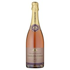 Charles Henry Brut Rose 75cl: Three grape varieties are permitted for making Champagne – Chardonnay (white), Pinot Noir and Pinot Meunier (which are red). This wine is a blend of both red and white wines. It has lots of fine bubbles and intense flavours of strawberries.