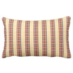 Flannel patterns on patterns pillow