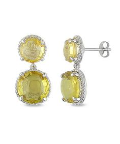 Take a look at this Citrine & Silver Earrings by Delmar on #zulily today!