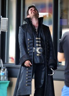Colin O'Donoghue spotted on the set of the hit TV show 'Once Upon A Time' filming in Vancouver, Canada on July 17, 2014.