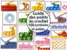 Guide des points au crochet - 100 symboles et points