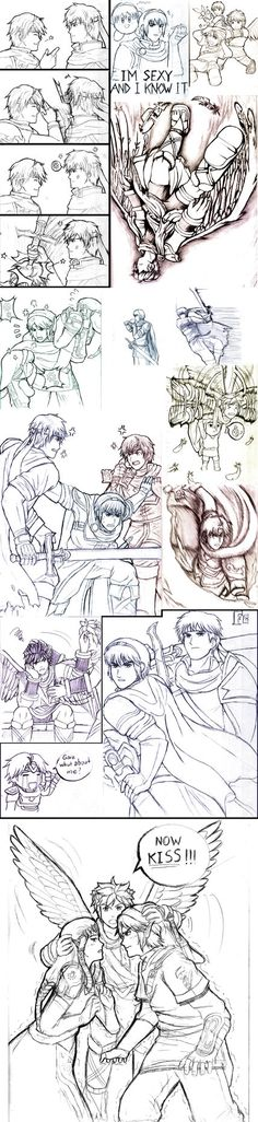 Super Smash Bros Sketch Dump #2 by AmazingArtistYellow