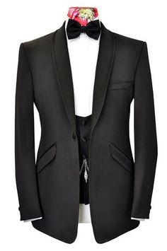 The Kingsley Classic Black Dinner Suit with Roped Edge Detail