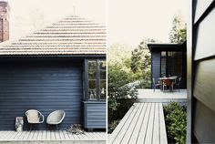 sfgirlbybay / bohemian modern style from a san francisco girl / page 16 Black Forest House, Black House, Fresco, Modern Cottage, Scandinavian Cottage, Small Buildings, Black Exterior, Garden Architecture, Cabins And Cottages