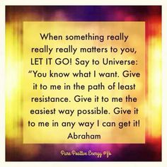 That's very important to know, just let go so the universe can figure out all the details for you :)