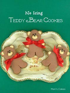 Galletas No icing Teddy Bear Cookies | Mari's Cakes