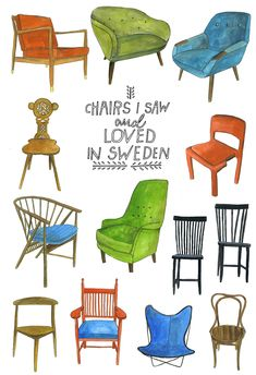 Chairs I Saw and Loved in Sweden // Lisa Congdon 2012