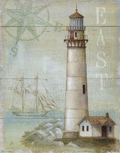 Great Art Now - East Coastal Light by Daphne Brissonnet Canvas Wall Art Canvas Artwork, Canvas Prints, Art Prints, Big Canvas, Vintage Pictures, Vintage Images, Watercolor Card, Deco Marine, Light Wall Art
