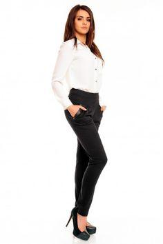 Gustowne czarne spodnie damskie