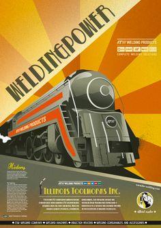 Trein (reclame) poster - art nouveau