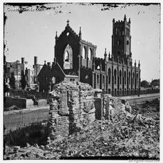 Charleston, SC - Roman Catholic Cathedral of St. John the Baptist, corner of Broad and Legare Streets. Burned in fire of 1861.