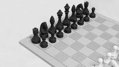 #concrete #chess #design #béton Chess Pieces, Air Dry Clay, Bauhaus, Geometric Shapes, Industrial Design, Board Games, Furniture Design, Interior Design, Modern