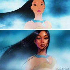 Художница показала, как выгляделибы диснеевские принцессы, еслибы ихрисовали сейчас