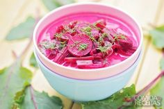 Sopa fria de beterraba - Comida e Receitas