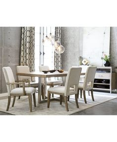 Anise 5Piece Wood Large Rectangular Dining Set With Curved Legs Fascinating 2 Piece Dining Room Set Decorating Inspiration