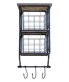 Look at this #zulilyfind! Double Wall Bin & Three-Hook Rack by VIP International #zulilyfinds