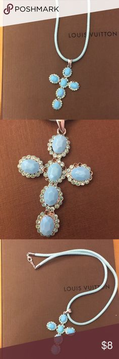 Turquoise cross necklace Got it from Italy Jewelry Necklaces