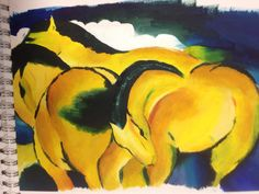 Loren, studying oil painting with Franz Marc. St Mary's Catholic High School