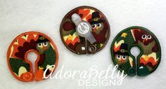Thanksgiving Turkey Gtube Pads G Tube Covers Mic-Key Mickey Button Bamboo Colostomy Holiday Fall by AdorabellyDesign on Etsy
